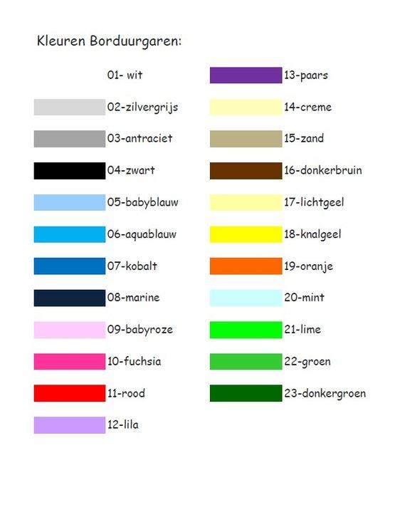 Keuzes kleur Borduurgaren