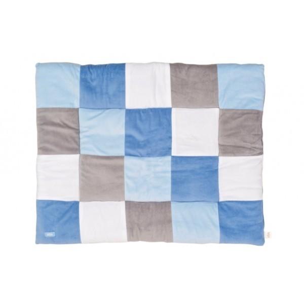 Boxkleed Block blue/grey Jollein