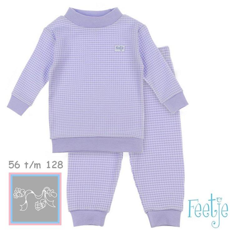 Feetje Pyjama wafel Lila autumn special