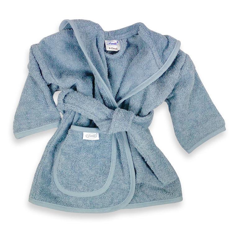 Badjas grey-blue 0-12 mnd
