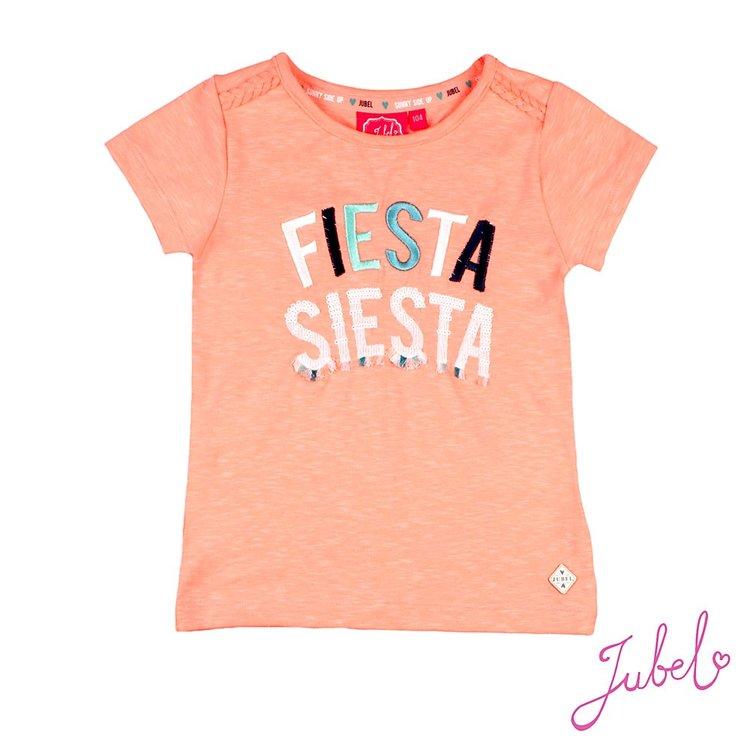 Jubel T-shirt Fiesta Siesta Neon Koraal - Botanic Blush 917.00264