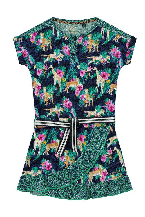 Quapi Dress - ACEY S203 INDIGO BLUE BOTANIC