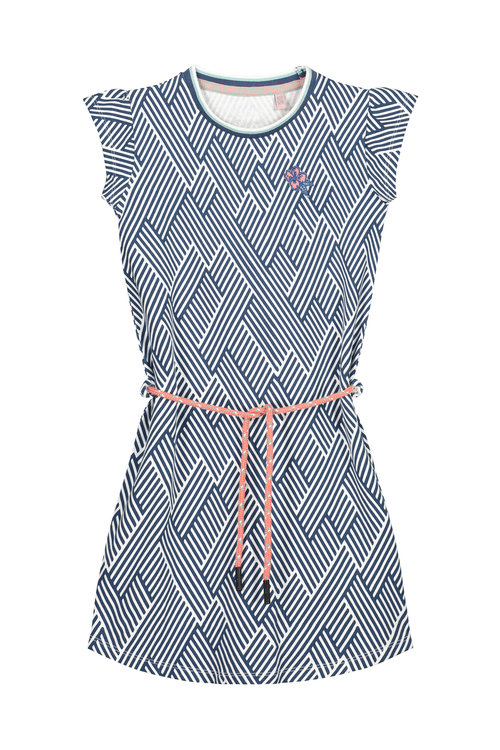 Quapi Dress - AAFJE S204 DARK BLUE ZIGZAG