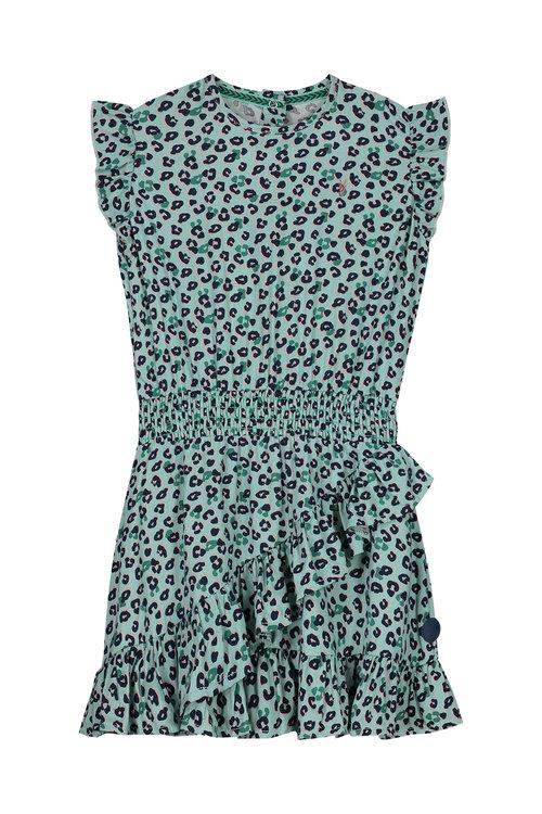 LEVV Dress -GARINA S202 SOFT MIST LEOPARD