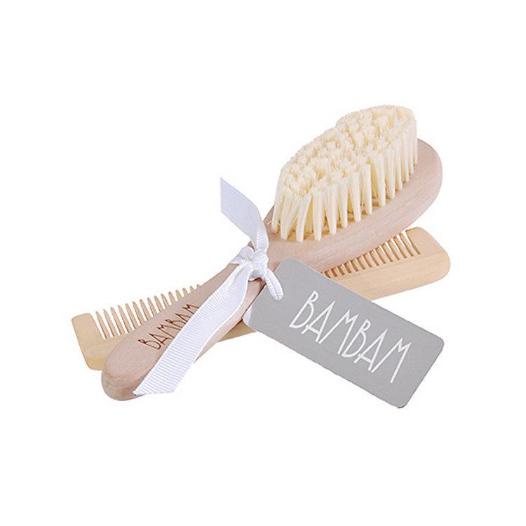 BamBam houten haarborstel set