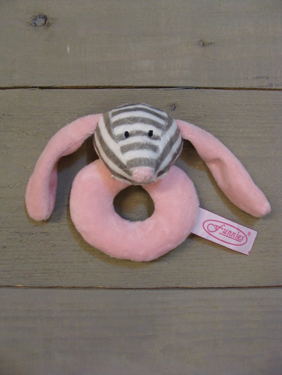 Rammelaar Langoor roze gestreept