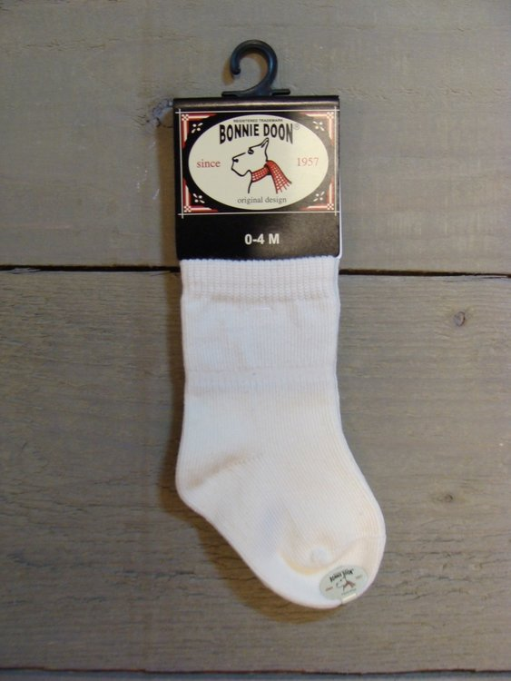 Cotton Sock Baby Off White Bonnie Doon
