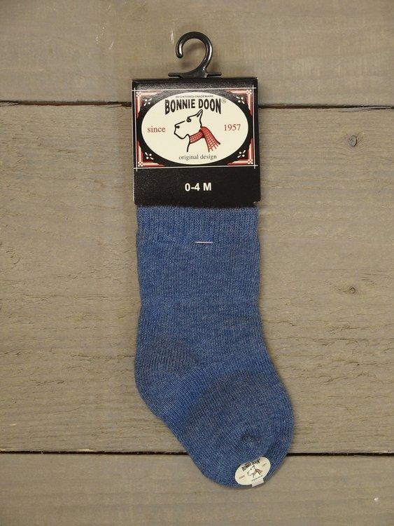 Cotton Sock Baby Denim Heather Bonnie Doon