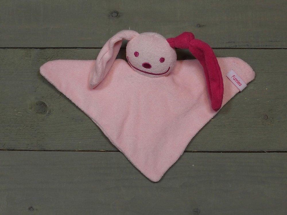 knuffeldoekje konijn Roze-Fuchsia