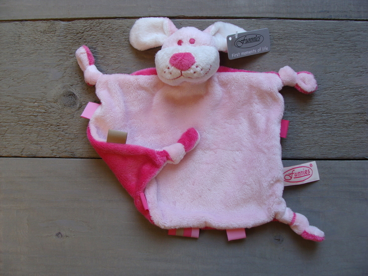knuffeldoekje hondje  Roze