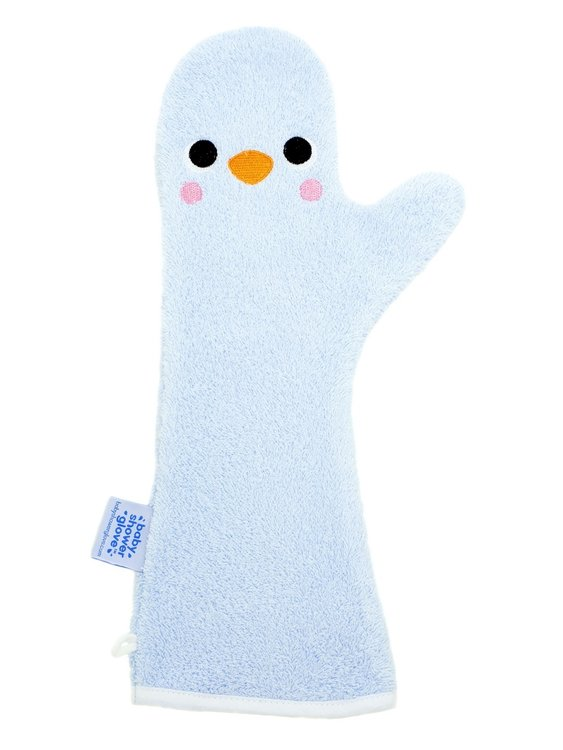 Baby shower Glove Penguin blauw