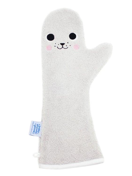 Baby shower Glove Seal grijs