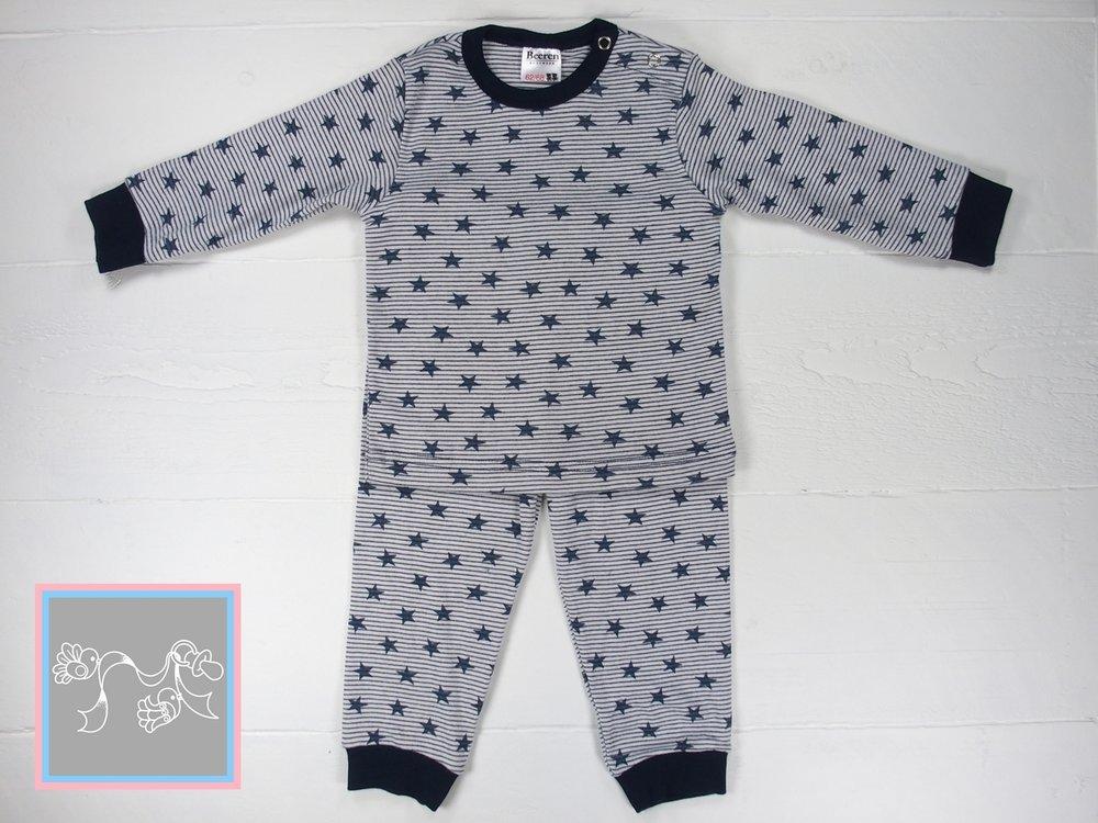Beeren Baby Pyjama Stripe-Star marine