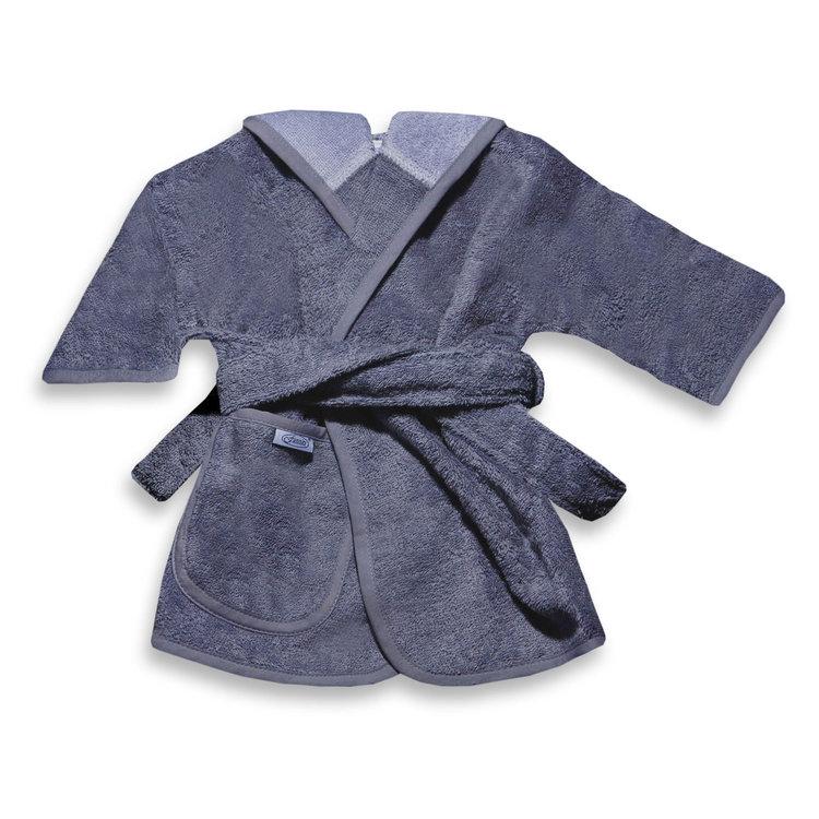 Badjas antraciet-grijs 1-2 jaar