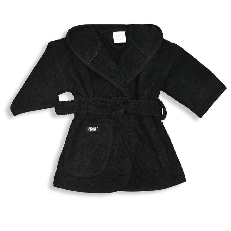 Badjas zwart 0-12 mnd