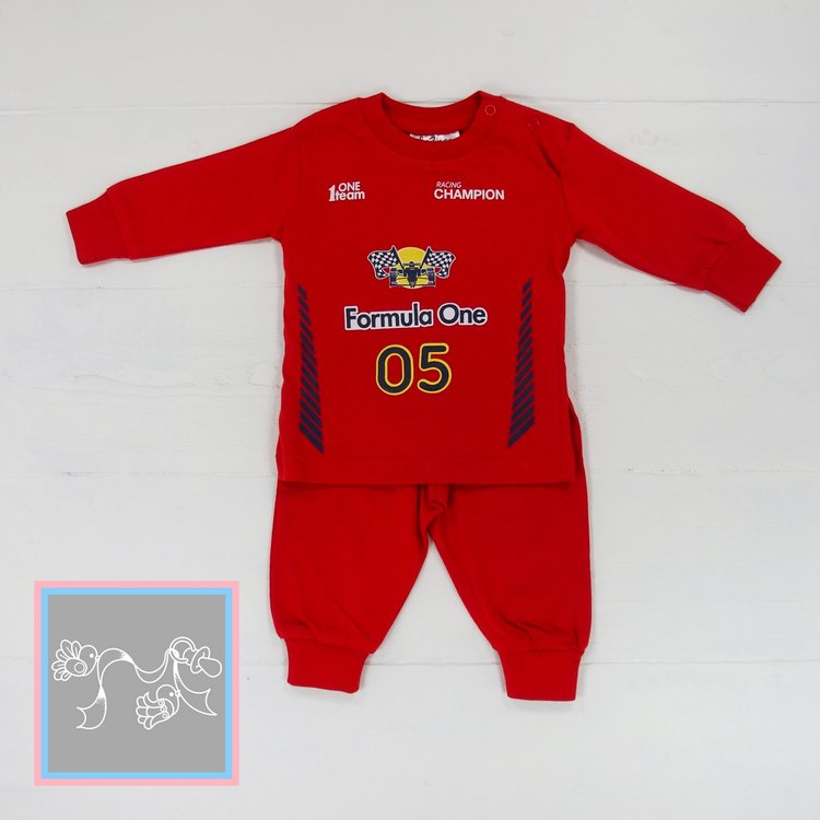 Fun2wear baby pyjama Formule 1 rood