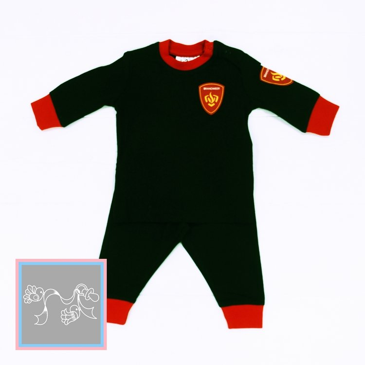 Fun2wear baby pyjama Brandweer zwart