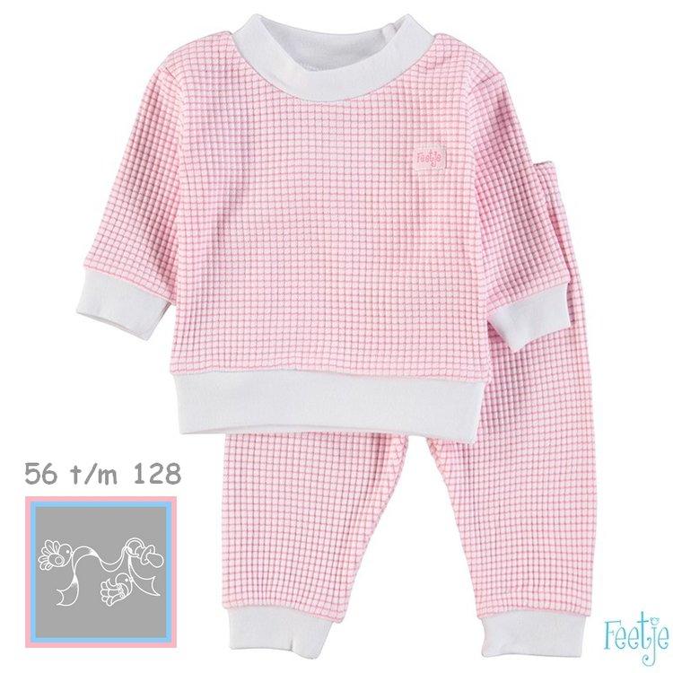 Feetje Pyjama wafel Roze