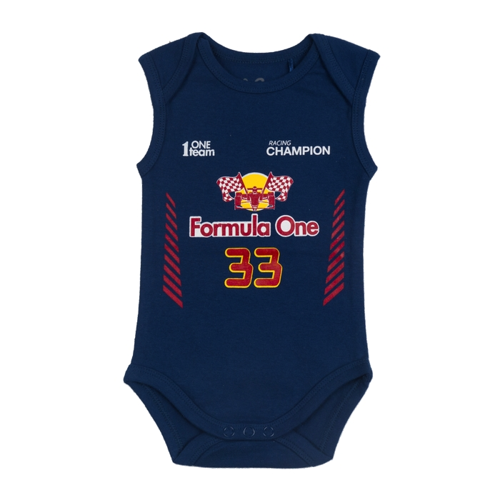 Fun2wear romper Formule 1 navy
