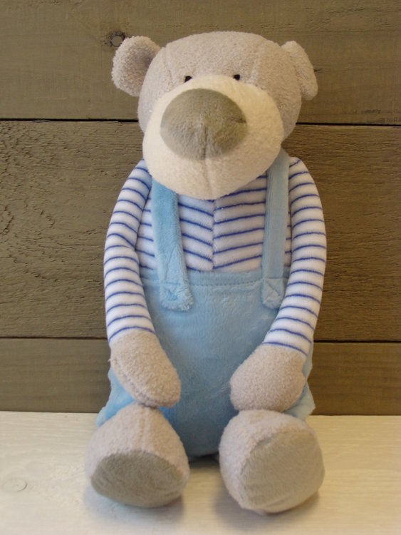 Knuffelbeer Boris Blauw