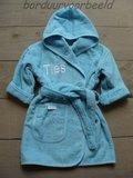 Badjas met Naam licht blauw