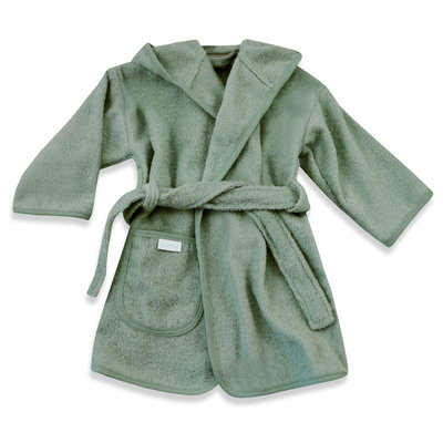 Badjas stone green 0-12 mnd