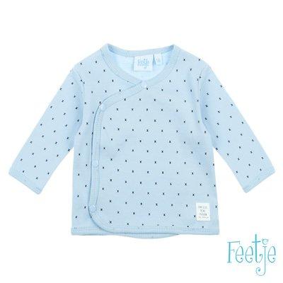 Feetje Mini Person Omslagshirt blauw 516.01525