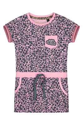 Quapi Dress - BALOU S202 LIGHT PINK LEOPARD