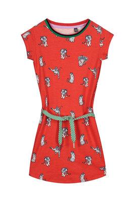 Quapi Dress - AAFJE S202 FLAME RED ANIMAL