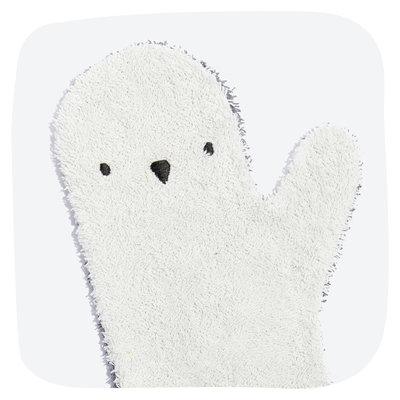 Baby shower Glove Tweekleurige Pinguin