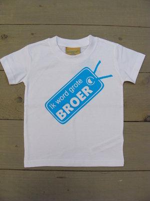 Shirtje Wit - Opdruk Blauw
