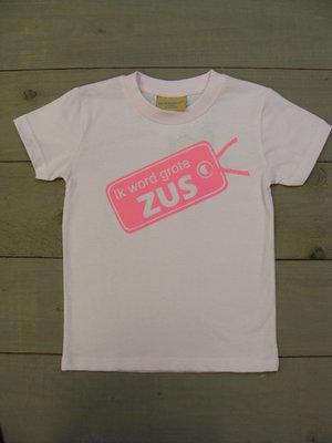 Shirtje Licht Roze - Opdruk Roze