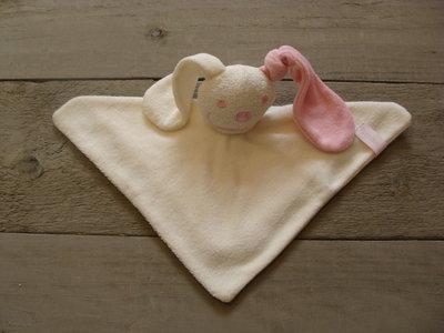 knuffeldoekje konijn Ecru-Roze