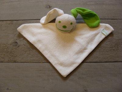 knuffeldoekje konijn Ecru-Lime groen