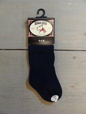 Cotton Sock Baby Navy Bonnie Doon