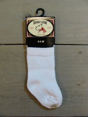Cotton Sock Baby White Bonnie Doon
