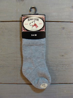 Cotton Sock Baby Light Grey Heather Bonnie Doon