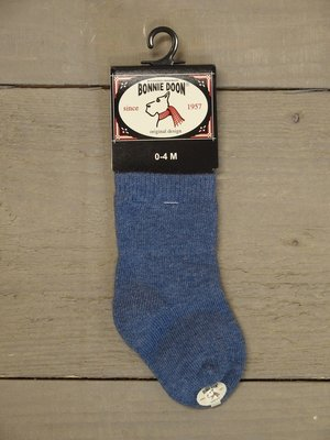 Cotton Sock Baby Denim Heather Bonnie Doon