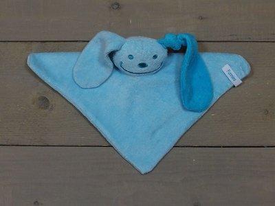 knuffeldoekje konijn Blauw-Aqua