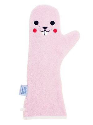 Baby shower Glove Beaver roze