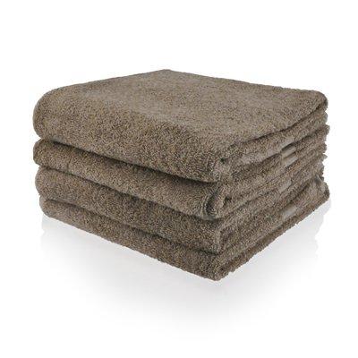 handdoek 09 donker taupe 50x100 cm