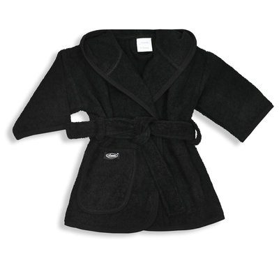 Badjas zwart 1-2 jaar
