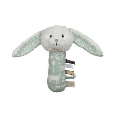 Little Dutch Knuffelrammelaar konijn adventure mint