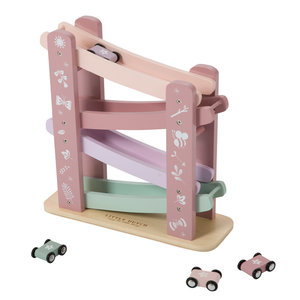Little Dutch Houten autobaan pink - in Houten Speelgoed