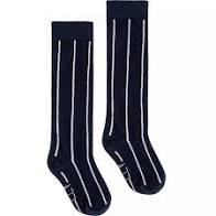 LEVV Sock -GWEN S202 DARK NAVY WHITE STRIPE