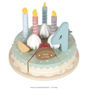 Little Dutch Houten verjaardagstaartje - 26-delig - in Houten Speelgoed