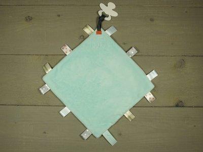 Label speendoekje 4kant mint - in Spenen